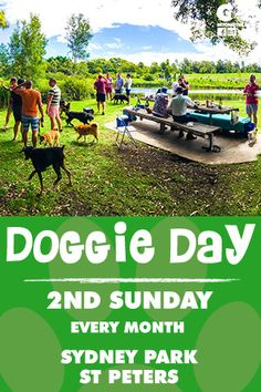 Come one, come all. Bring your friends, family and POOCHES. What a way to spend a Sunday shooting the breeze and watching puppies play. The 2nd Sunday of every month from 2pm and 5pm our group meets under the trees to the right of the lake when entering from Campbell Rd into Sydney Park.