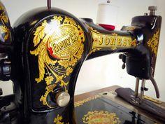 Refurbished Jones Hand Crank Antique Vintage by SEWING4EVERYONE
