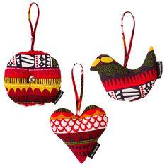 Marimekko Raanu Christmas decorations