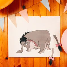 Eeyore is looking for his tail. Can you help him find it? Pin the Tail on Eeyore at your Winnie the Pooh party.