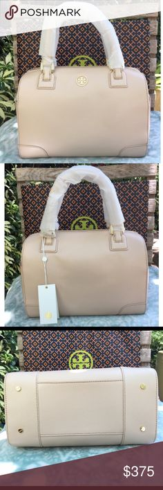 NWT  Tory Burch Robinson Satchel BRAND NEW Tory Burch Robinson Satchel Color: Dark Sahara (a nude color) with gold tone hardware. Includes adjustable shoulder strap, two top handles, top zip closure, 2 outside side pockets, and feet. Measurements: 7.5H x 11L x 5.5D  Authentic  No trades/No low balling ✅ Reasonable offers welcome Tory Burch Bags Satchels
