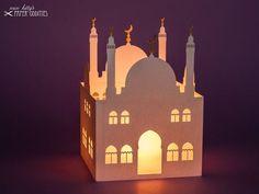 Simple Decoration of Ramadan Light Ramadan Activities, Ramadan Crafts, Bow Light, Construction Paper, Eid Mubarak, Craft Kits, Tea Lights, Lanterns, Paper Crafts