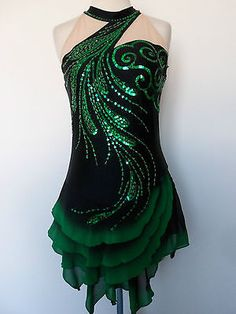 Custom Made New Ice Skating Baton Dance Dress | eBay http://amzn.to/2k2HTMQ