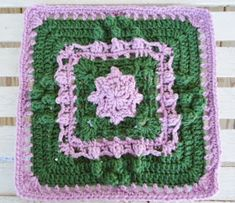 """Crochet in Common Designs©      Marching into Spring 12"""" Square   © 2014 All rights reserved.         """"CIC Marching into Spring""""   Designed..."""