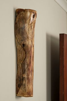 Un-identical Twins - No 1. 3D wall sculpture made form the wood of an African tree.
