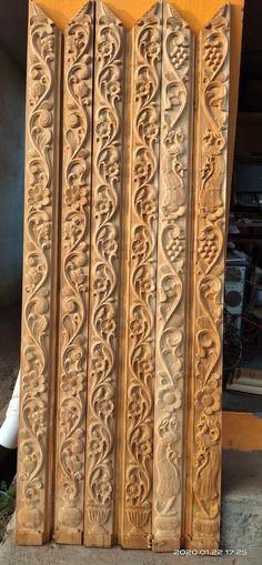 Single Door Design, Wooden Front Door Design, Double Door Design, Wooden Front Doors, Wooden Door Hangers, Pooja Room Door Design, Door Design Interior, Wood Carving Designs, Wood Carving Patterns