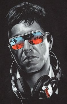 Scarface. I love the way this is done and how it looks #music