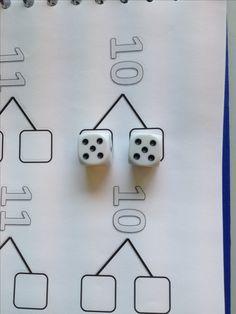 using this page and dice..........................splitsen met dobbelstenen