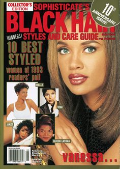 Black Hairstyles and Care Guide, May 1994 Hair magazine – Hair Models-Hair Styles Black Hair 90s, Black Hair Care, 90s Hairstyles, Black Hairstyles, Black Hair Magazine, Black Mama, Hype Hair, Vanessa Williams, Elvis And Priscilla