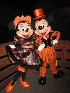 Halloween Minnie and Mickey