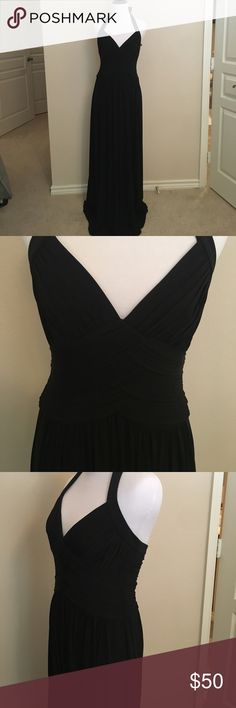 Elegant long evening gown Black, long, halter evening gown. Perfect for an elegant night on the town! BCBG Dresses Maxi
