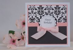 Pretty, simple birthday card making idea. Many ideas to use here.
