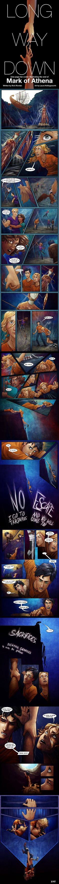 Long Way Down, comic of The Mark of Athena by Rick Riordan