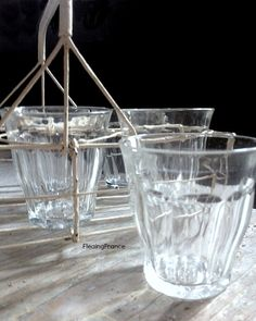 FleaingFrance......French Bistro Glass Pairs