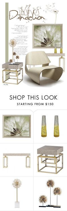 """Dandelion Wishes - Dandelion Decor"" by mcheffer ❤ liked on Polyvore featuring interior, interiors, interior design, home, home decor, interior decorating, Paragon, Lazy Susan, Andrew Martin and Kate Spade"