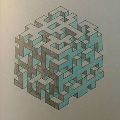 How to Draw A Loch Ness Monster - Drawing On Demand Graph Paper Drawings, Graph Paper Art, 3d Drawings, 3d Drawing Techniques, Drawing Skills, Drawing Ideas, Op Art, Maze Drawing, 3d Maze