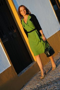 Lady of Style. A Fashion Blog for Mature Women. - I REALLY LOVE THIS OUTFIT, JUST NOT THE GREEN COLOR.