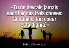 Famille, cœur, dignité