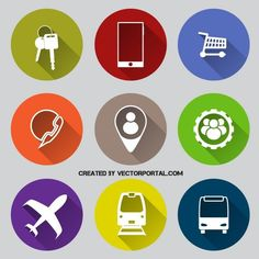 Various icons vector pack