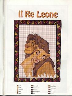Il re leone schema a punto croce disney cross stitch disney The Lion King, Disney Lion King, Cross Stitching, Cross Stitch Embroidery, Embroidery Patterns, Disney Cross Stitch Patterns, Cross Stitch Charts, Simba E Nala, Lion King Images