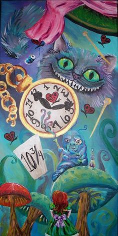 trippy alice in wonderland painting - Google Search