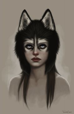Husky Picture great simple make up idea