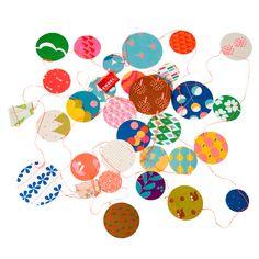 Anniversaire - guirlande papier engel fluo vente accessoires et objets décoration enfants : My Little Bazar.
