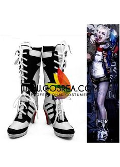 Suicide Squad Harley Quinn Movie Cosplay Shoes