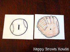 Several baseball-themed math activities