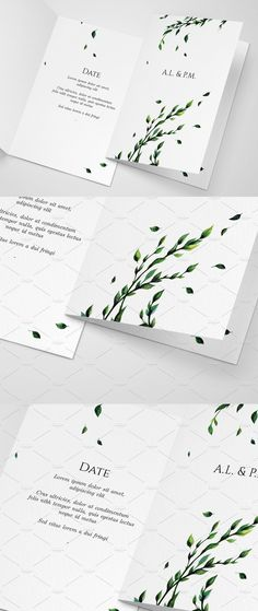 Modern Minimalistic Invitation Template Created by Hand Using Watercolour. Scanned and Touched Up Digitally. What's Inside: 300 DPI Layered PSD File Can be used for Wedding, Engagement, Anniversary and Other Holiday Invitations.