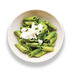 Subbing spinach in for basil lends a sweetness to this pesto that is simply divine when tossed with penne.