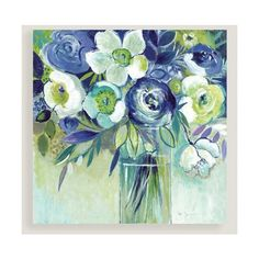 Cost Plus World Market Bouquet de Bleu ($130) ❤ liked on Polyvore featuring home, home decor, floral home decor, cost plus world market and glass home decor
