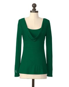 Wait, there's dressy MSU wear?  Michigan State Spartans | Empire Waist Cowl Neck Top | meesh & mia