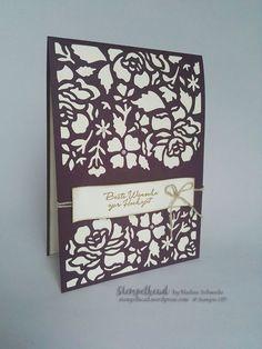 Stampin UP! Glückwunschkarte, Hochzeit, Brombeermousse, Vanille, Florale Fantasie