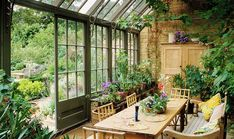 garden room Anatomy of a Room: Dreamy Conservatory Ideas -- One Kings Lane Greenhouse Kitchen, Cheap Greenhouse, Backyard Greenhouse, Pergola Patio, Pergola Kits, Pergola Plans, Small Pergola, Greenhouse Ideas, Pergola Ideas