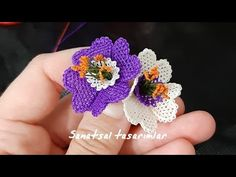 Needle oyasi different flower models igne oyasi hearted flower NEEDLE LACE flow . Knitting Blogs, Lace Knitting, Knitting Patterns, Seed Bead Tutorials, Beading Tutorials, Silk Ribbon Embroidery, Hand Embroidery, Beaded Flowers, Crochet Flowers