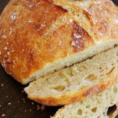 No-Knead Crusty Artisan Bread-3 cups all-purpose flour  2 teaspoons kosher salt (not table salt)  1/2 teaspoon dry yeast (active dry or highly active dry work best)  1 1/2 cups lukewarm water