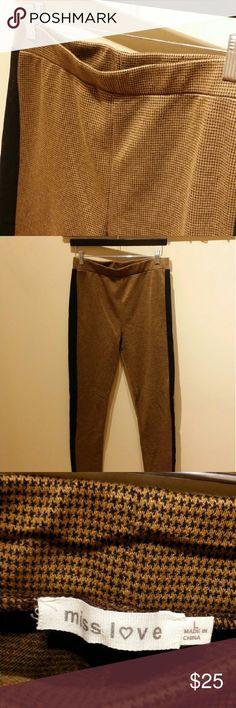 Selling this Houndstooth Tuxedo Stripe Leggings on Poshmark! My username is: usxgichxn. #shopmycloset #poshmark #fashion #shopping #style #forsale #Miss Love #Pants