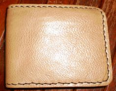 Handmade classic vintage hand stitched buff brown by G2Pleather, $22.99