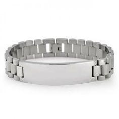 Bling Jewelry Stainless Steel Links Mens ID Bracelet 8.5 Inches