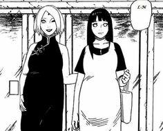 Sakura Uchiha and Hinata Uzumaki Pregnant ♥♥♥  #strong #mothers #beautiful #cute