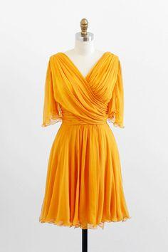vintage 1960s dress / 60s dress / Marigold Yellow