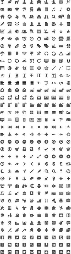 GLYPHICONS is a library of precisely prepared monochromatic icons and symbols, created with an emphasis on simplicity and easy orientation.