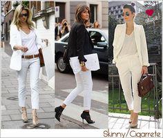 Looks calça branca, vale até blazer branco!!!