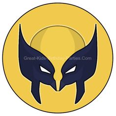 Free Superhero Printables - Wolverine printable in small and large sizes.  Great for cupcake toppers, stickers and party signs.