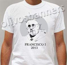 $19.99 Brand New t-shirt POPE FRANCISCO 1 FRANCIS ARGENTINE FRANCESCO PAPA free ship