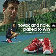 Novak's Adidas Barricade shoes