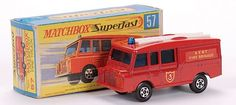 Matchbox Superfast MB57-c Land Rover Fire Truck
