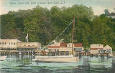 Closeup View of The Boathouses Sea Cliff L I NY Pre 1907 Postcard | eBay