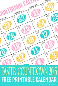 I get really antsy waiting for the day to come when we get to celebrate Easter. If you (or your kids) are like me, this free printable countdown Easter calendar is for you!